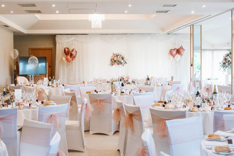 Wedding Breakfast Room layout at Bearwood Lakes