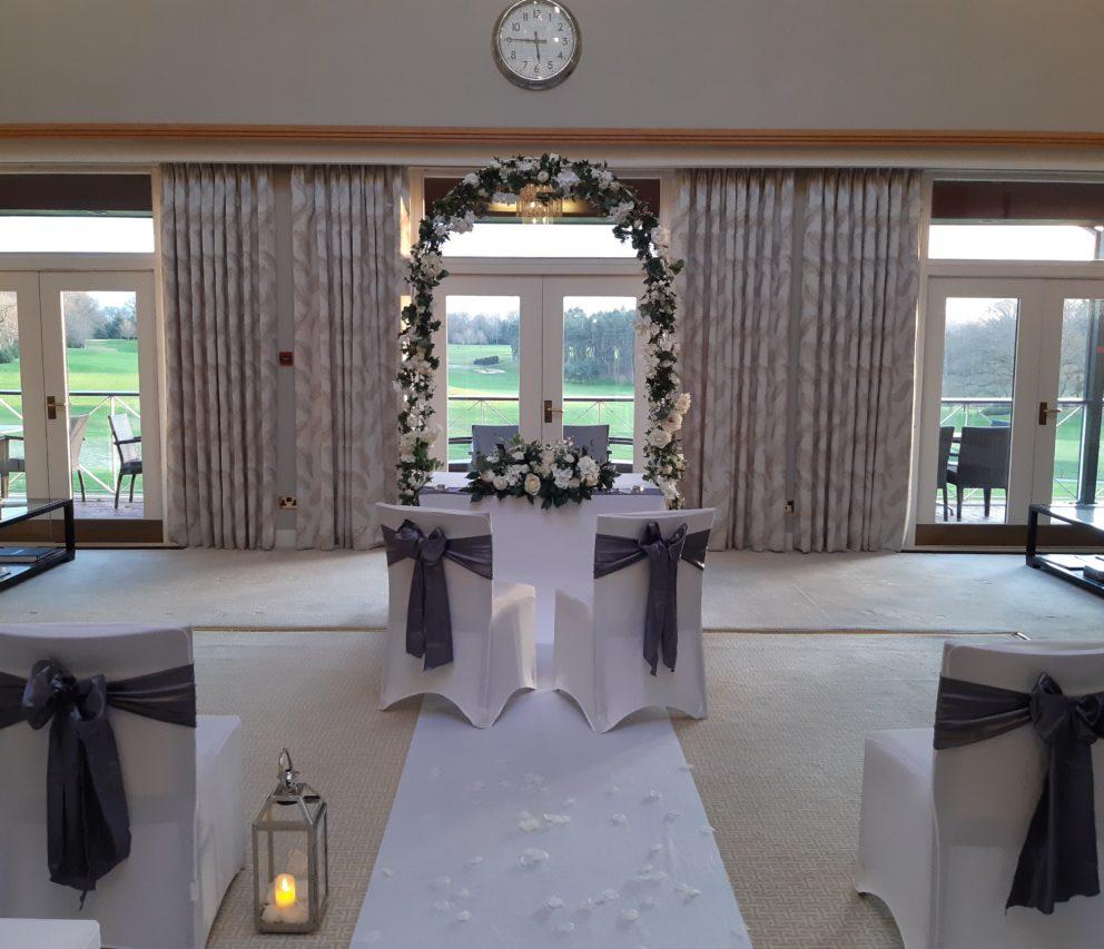 Wedding Ceremony at Bearwood Lakes