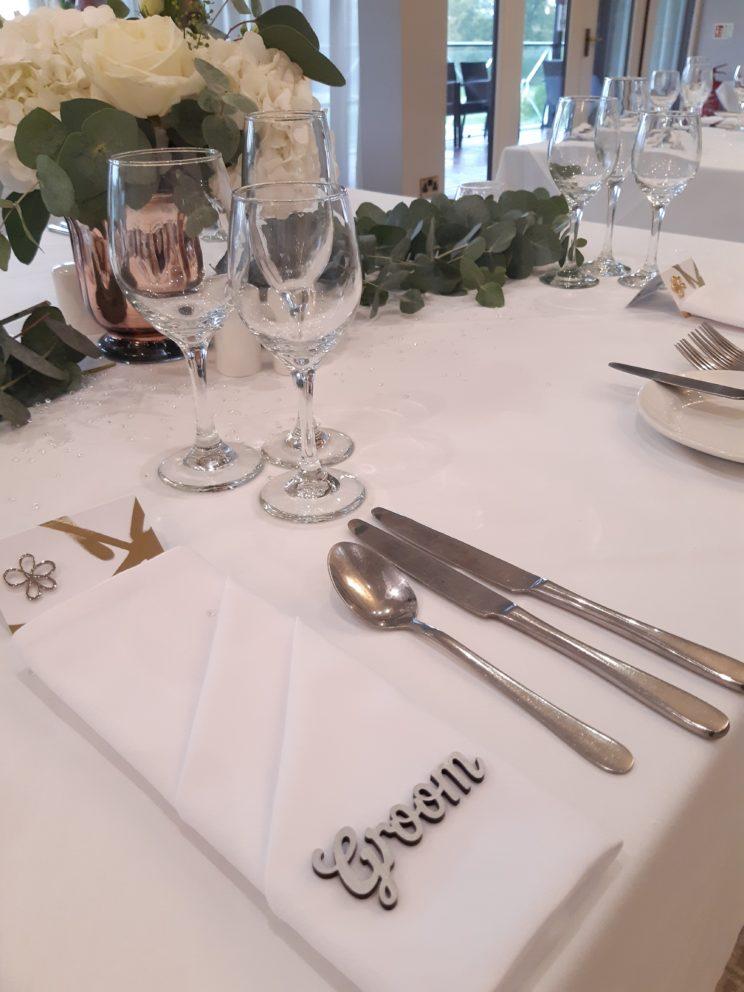 Wedding Table Setting At Bearwood Lakes