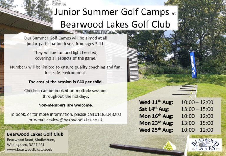 Summer Golf Camps 2021